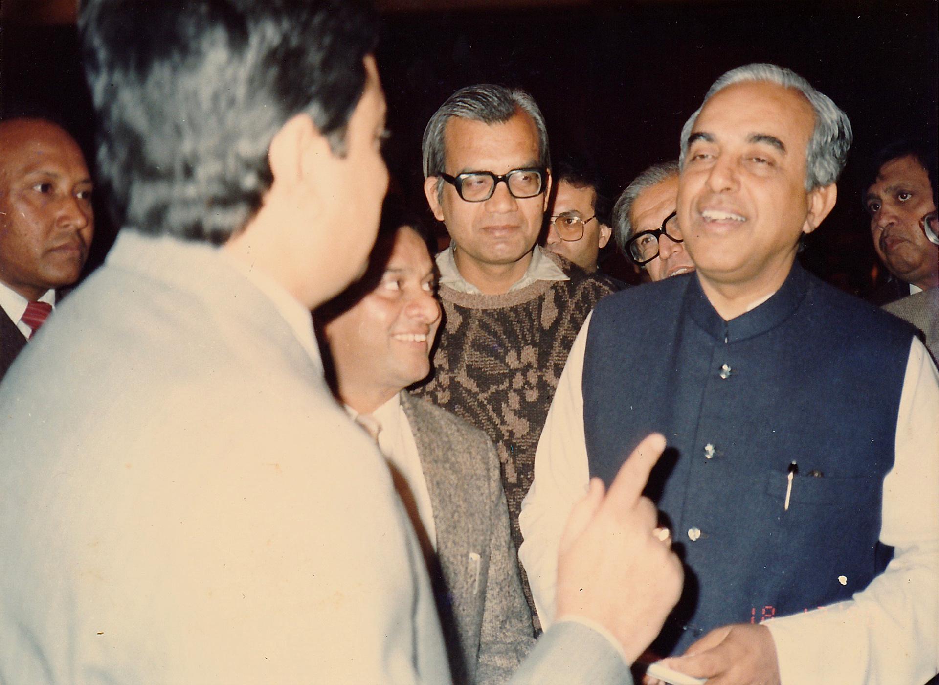 Mr. Rajeshwar Mishra with Mr. Subramanian Swamy