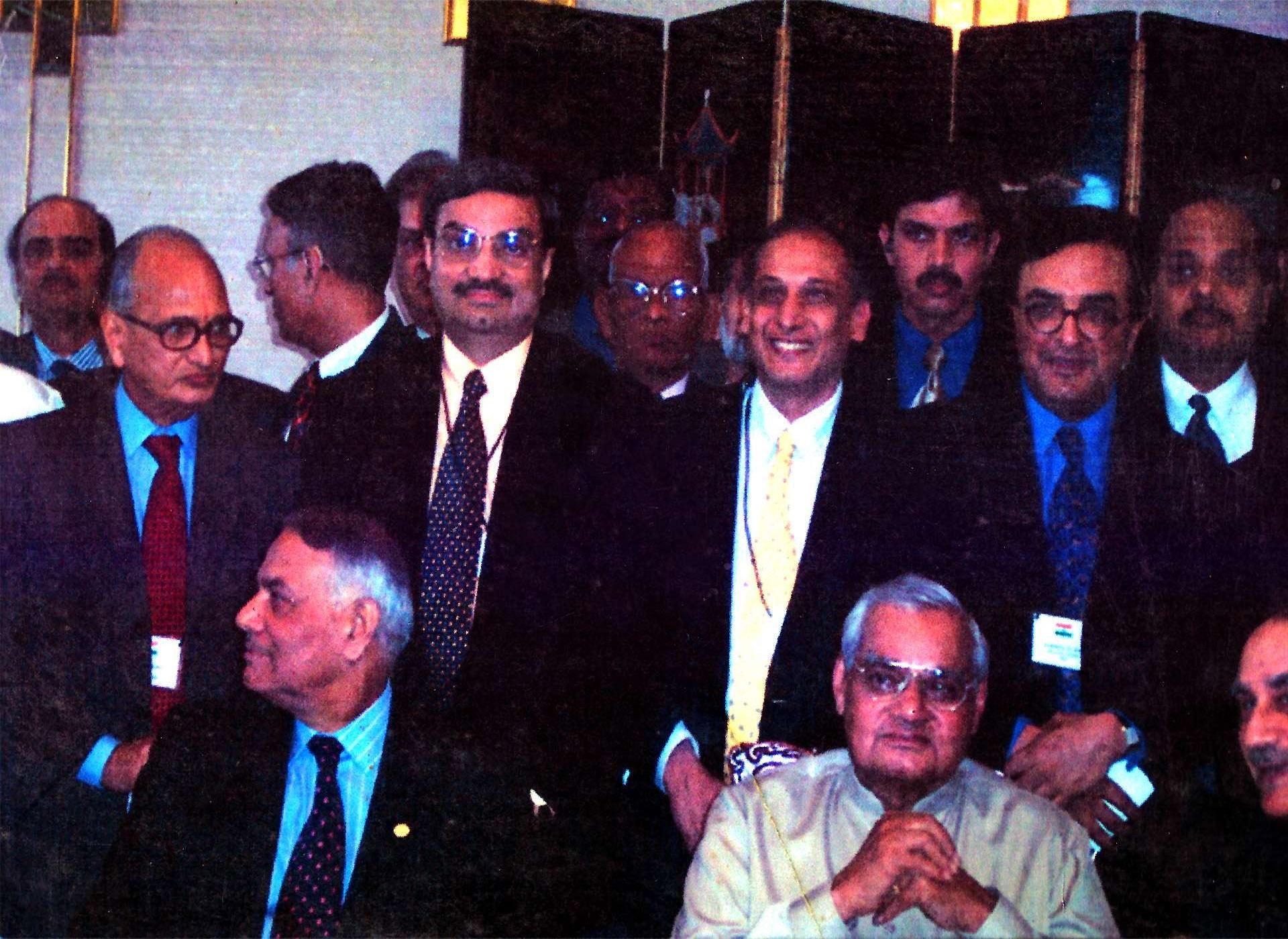 Mr. Rajeshwar Mishra with Shri Atal Bihari Bajpayee Ji